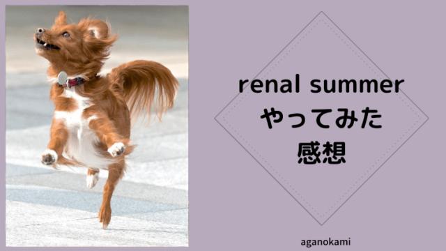 renal summerプレイ感想
