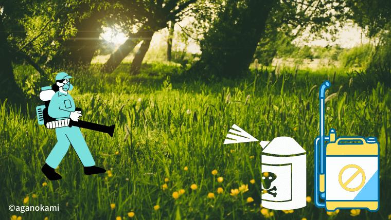 殺虫剤や除草剤に注意